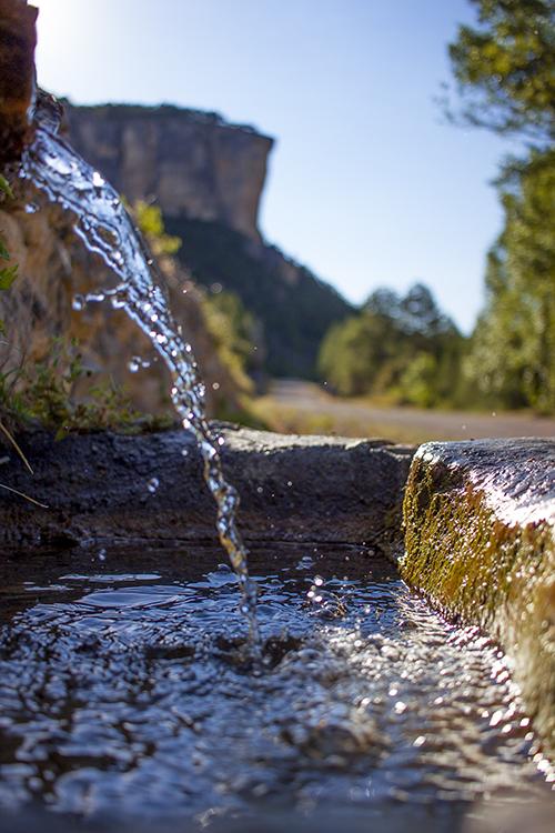 Chorro de agua natural
