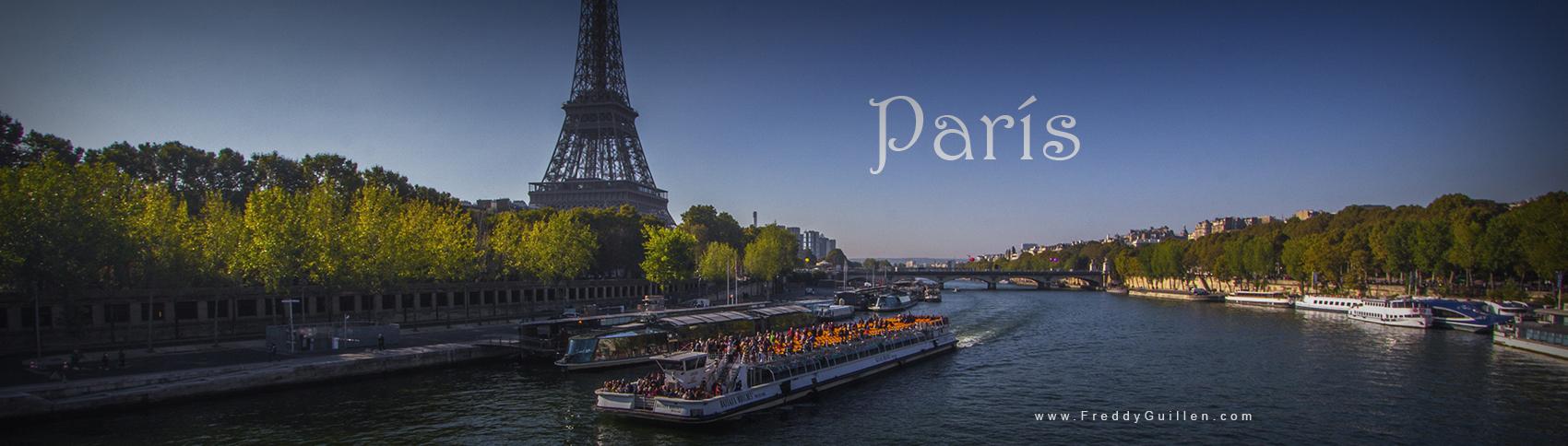 Rio Sena y Torre Eiffel en París - Francia